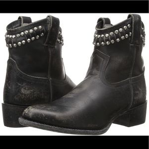 Frye studded boots.